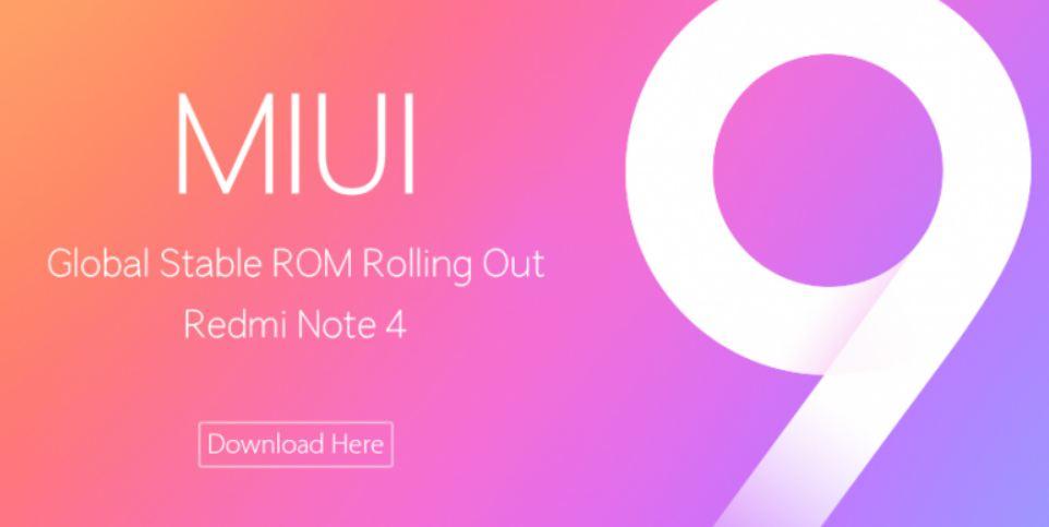 Bgrin Xiaomi Redmi Note 4 Gets MIUI 9 Global ROM