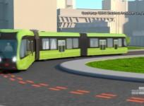 New trackless train appears to be a bus