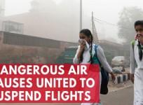 Dangerous air pollution leads United Airlines to suspend flights to New Delhi