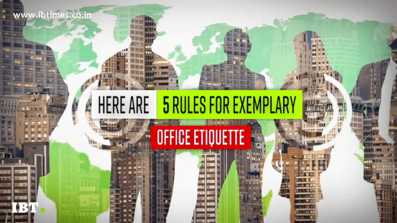 5 Office Etiquette rules you need to know