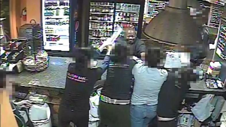 Workers involved in tug-of-war over cash register during attempted robbery