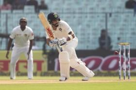 Kohli hit the first fifty in Eden Gardens on Monday