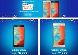 Samsung's Happy Hours sales on Amazon India