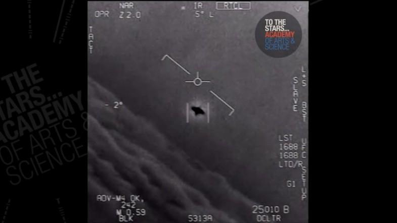 Video shows US Navy jet tracking mysterious UFO