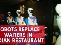 Robots replace waiters in Indian restaurant