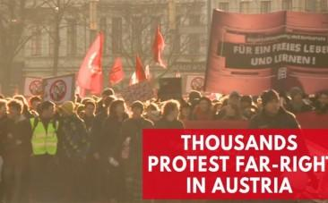 Thousands protest inauguration of Austrias new cabinet with far-right party