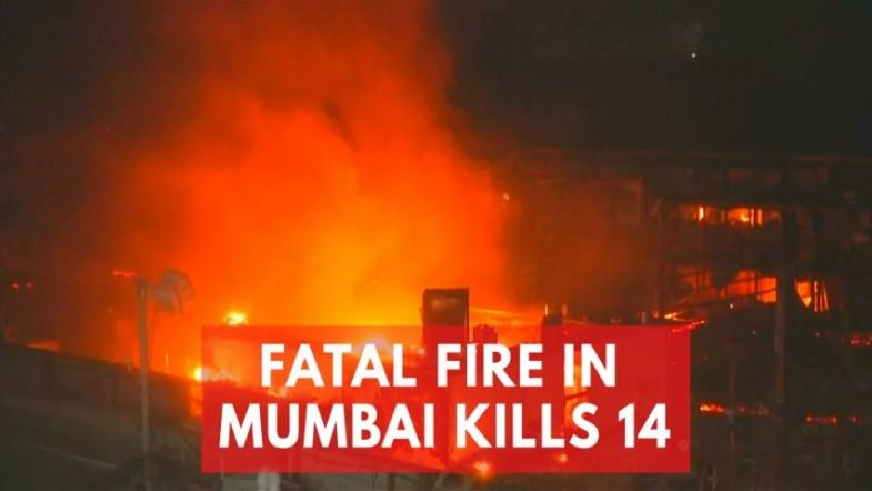 Dramatic video shows huge fire tearing through upscale complex in Mumbai