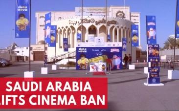 Saudis enjoy cinema for first time in 35 years after government lifts ban