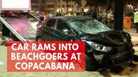 Baby killed and several injured after car rams into pedestrians near Rios Copacabana beach