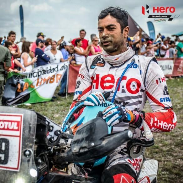 CS Santosh, Dakar Rally, Hero MotoSports