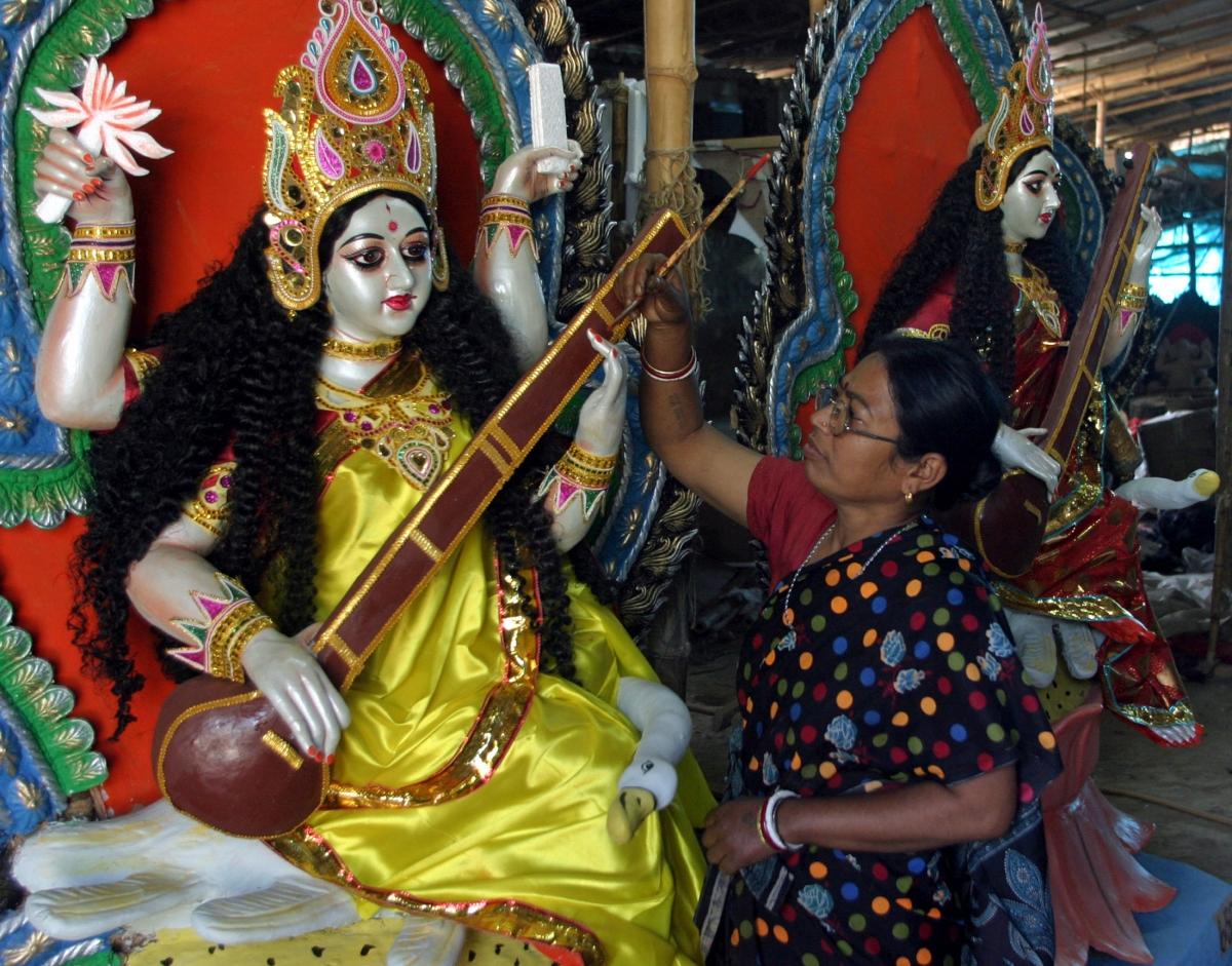 basant panchami saraswati puja wishes quotes whatsapp messages share