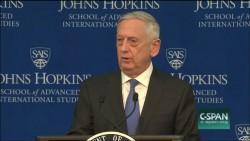 Secretary of Defense James Mattis outlines various global threats