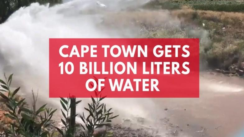10bn litres of water donated to Cape Town pushes back day zero