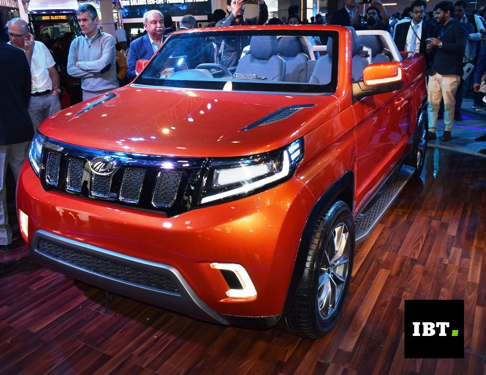 mahindra tuv stinger convertible suv concept based on tuv300 unveiled at auto expo 2018. Black Bedroom Furniture Sets. Home Design Ideas
