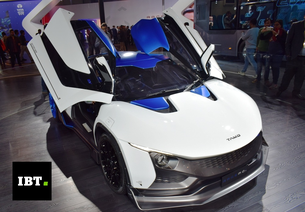 Tata motors unveils tamo racemo electric sports car at for Tata motors electric car