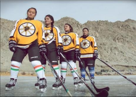Canadian Olympian travels thousands of miles to help Indian women ice hockey players