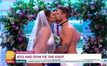 Love Islands Jess And Dom Get Married Live On Good Morning Britain