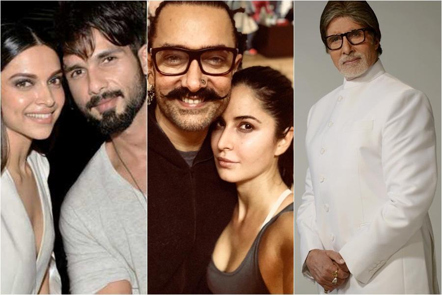 Shahid Kapoor And Katrina Kaif Kissing Deepika Padukon...
