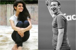 Priya Prakash Varrier, Mark Zuckerberg