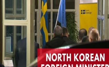 North Korean Foreign Minister Ri Yong Ho arrives in Sweden