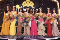 New Binibining Pilipinas Queens crowned, from left to right: Samantha Bernardo, second runner up; Michele Gumabao, Binibining Pilipinas Globe; Eva Patalinjug, Binibining Pilipinas Grand International; Catriona Gray, Miss Universe Philippines; Ma. Ahtisa M