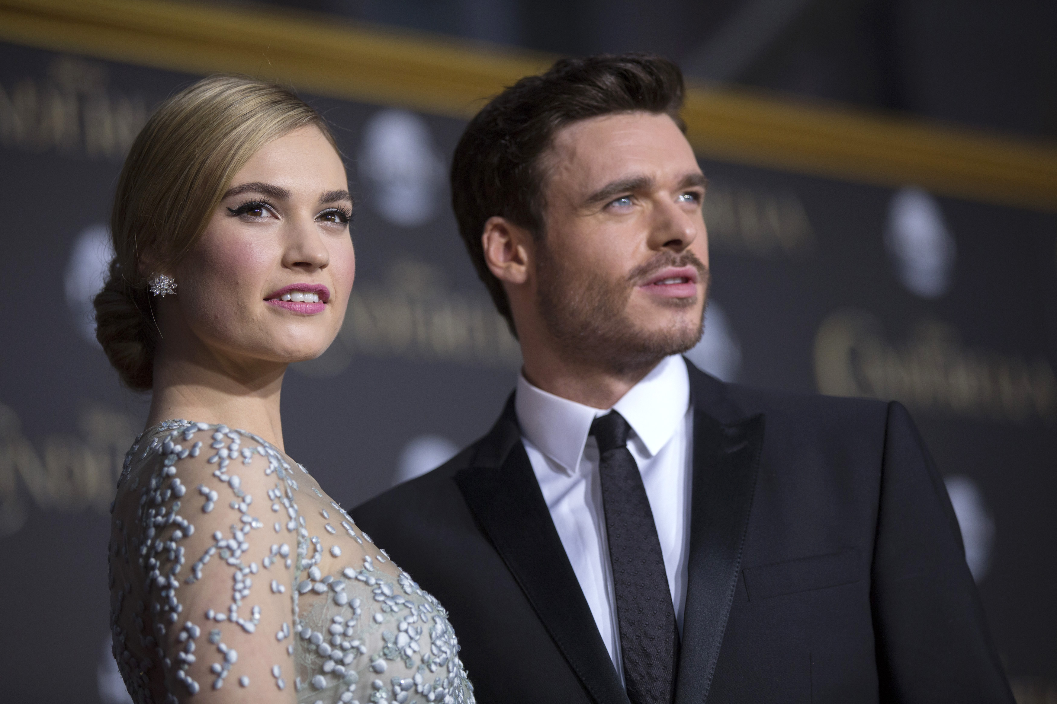 Lily James and Richard Madden Attend Premiere of ...