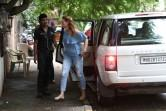 TV personality Iulia Vantur snapped at Hakim's salon Bandra.