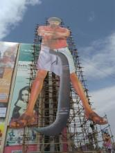 Thalapathy Vijay fans rocks with mass cutout for their Mersal star.