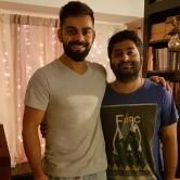 """Virat took to Twitter on Tuesday to share a photograph of himself along with Arijit and said the singer is an """"amazing person"""". """"Pure fanboy moment for me. What an amazing person he is. No one has captivated me with their voice like this man. God bless you Arijit,"""" Virat tweeted. Over the weekend, Virat along with other sportsmen took part in a charity football game against a team of film celebrities, including Ranbir Kapoor, Abhishek Bachchan, Dino Morea and Shoojit Sircar."""