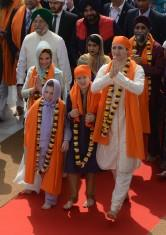 Canadian Prime Minister Justin Trudeau, accompanied by his wife and two children, offered prayers at the Golden Temple on Wednesday, underlining the significance of the large Sikh and Punjabi community settled in Canada.