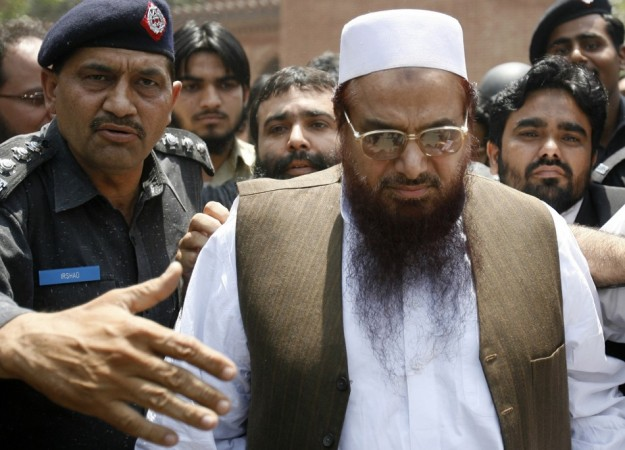 Police escort founder of Lashkar-e-Taiba Hafiz Saeed in Lahore