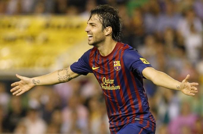 Barcelona's Cesc Fabregas