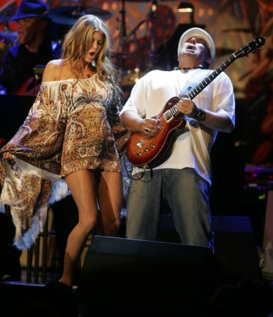 Fergie From the Black Eyed Peas And Carlos Santana
