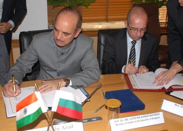 Ghulam Nabi Azad and Stefan Konstantinov