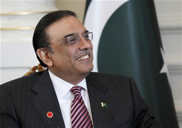 Pakistan's President Asif Ali Zardari is seen during a meeting with his Turkish counterpart Abdullah Gul in Istanbul