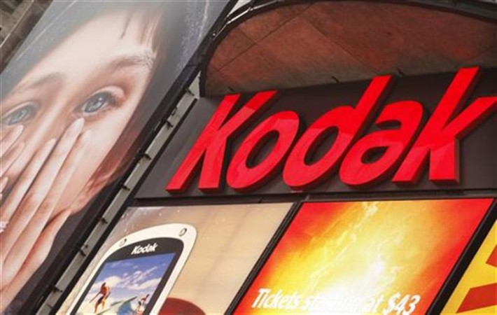 A Kodak screen is seen at Times Square in New York