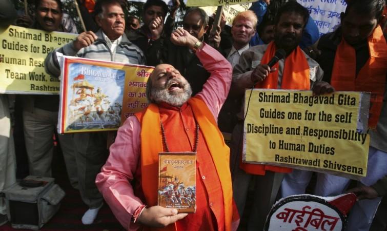 Hardline Hindu group/ Protest/ Gita/ Russia