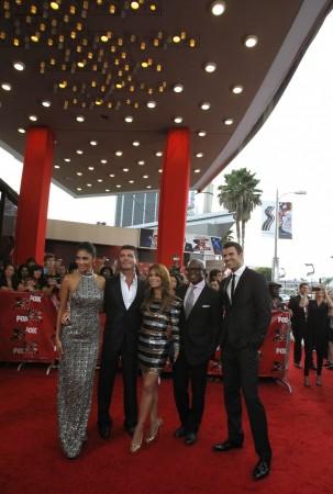 Nicole Scherzinger, Simon Cowell, Paula Abdul, Antonio Reid, Steve Jones
