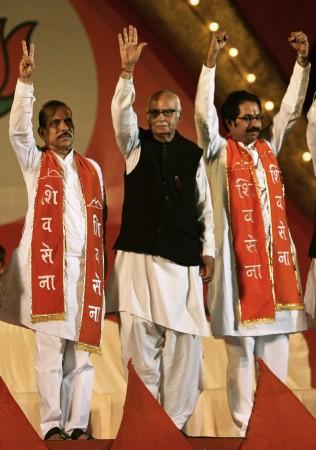 BJP-Shiv Sena/ L K Advani, Uddhav Thackeray, Manohar Joshi