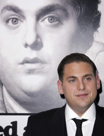 Jonah Hill arrives at the premiere of