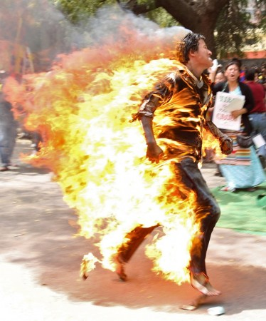 Tibetan Protester