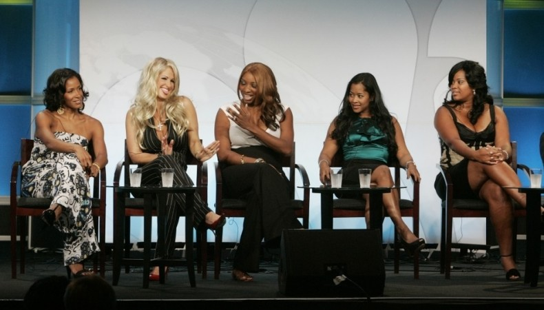 "Cast of reality series ""The Real Housewives of Atlanta"" take part in a panel discussion at the NBC Universal summer 2008 press tour in Beverly Hills"