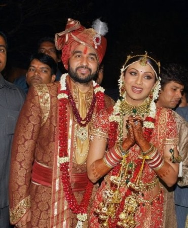 Actress Shilpa Shetty with husband Raj Kundra