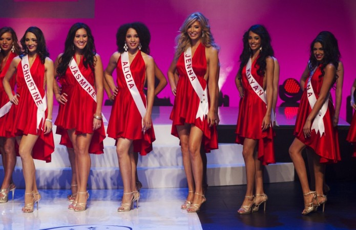 Transgender contestant Jenna Talackova (3rd R) takes part in Miss Universe Canada competition in Toronto May 17, 2012. Talackova was originally disqualified from the Miss Universe Canada contest because she was not a