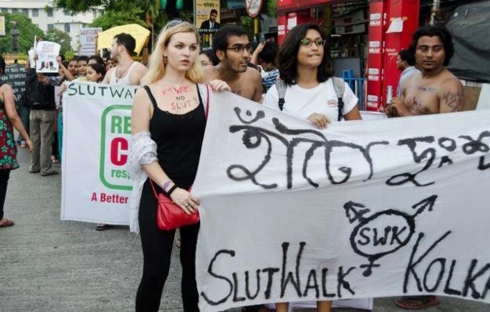 Sultwalk protest in Kolkata