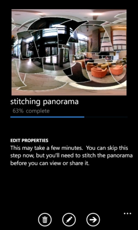 Stitching panoramas
