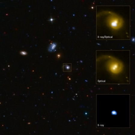 nasa astronomers discover giant black hole kicked out of galaxy
