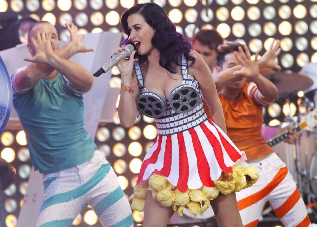 "Cast member and singer Katy Perry performs at the premiere of ""Katy Perry: Part of Me"" in Hollywood"