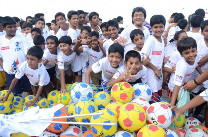 Kids At Football Marathon. Image: Scribes INC