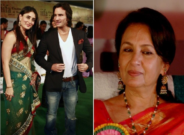 Bollywood actors Saif-Kareena and yerteryears' Sharmila Tagore